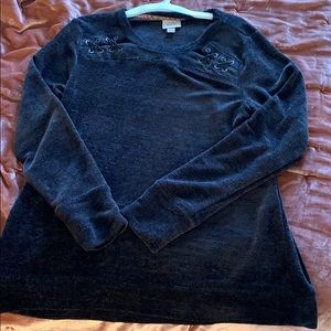Black soft sweater